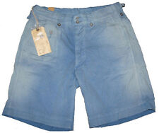 $260 Double Ralph Lauren RRL Mens Blue Sun Faded Navel Deck Cargo Shorts 33 34