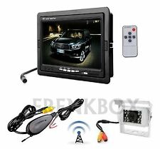 Kit retromarcia wireless Telecamera per camper, auto, rimorchi Monitor LCD 7""