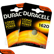 2 x Duracell Lithium CR1620 3V Coin Cell batteries DL1620 ERC1620 KRC EXP:2025
