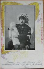 1903 Chocolate / Confiserie AD Postcard-Child and Doll