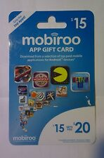 Mobiroo APP Gift Card $15 Gets You $20 Download APPs from Android Phones/Tablets