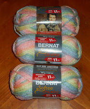 Bernat Softee Chunky Yarn Lot Of 3 Skeins (Sleepytime #29306)