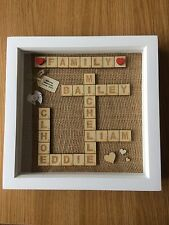 Personalised Scrabble Picture Frame/Wedding/Family/Engagement/New Baby/Home Gift