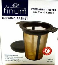 NEW Finum MADE IN GERMANY Large Brewing Basket Tea Filter Stainless Steel Mesh