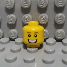 LEGO Yellow Minifigure Head Dark Tan Eyebrows, White Pupils, Teeth Smile