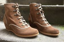 DESTOCKAGE NEUF BOOTS COMPENSES MARQUE PAZAPA CUIR TAUPE @ T 39 @ 109€ @ N1521