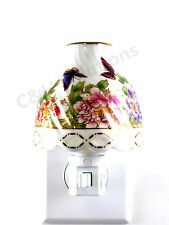 Elegance Floral Lamp Shade Porcelain Flower With Butterfly Night light