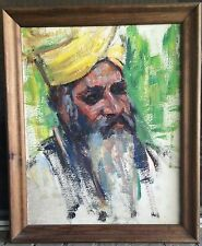 Donna Norine Schuster MAN WITH TURBAN original oil Sketch Painting NICE!!!