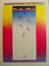 Mahavishnu Orchestra Poster & Cat Stevens,Buddha LP 2 Sided 70's Poster 15x10 74