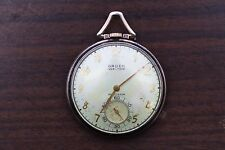 Vintage GRUEN Precision Veri-Thin 10K Gold Filled Pocketwatch 385 Cal - Running!