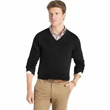 New Men IZOD Lightweight Sold V-Neck Cotton Sweater - Multi Colors - BIG & TALL