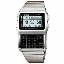 Banco de datos de calculadora digital Casio Luz Temporizador Reloj de parada, Acero Inoxidable