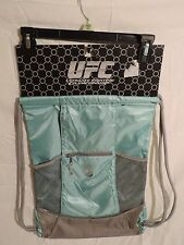 UFC Sport Sack Drawstring - Aqua Light Baby Blue and Gray BRAND NEW