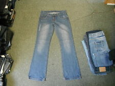 "Ricci Bootcut Jeans Size 10 Leg 33"" Faded Dark Blue Ladies Jeans"
