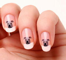 20 Nail Art Stickers Transfers Decals #130 - White Boxer dog. Just peel & stick