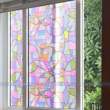 Removable Static Cling Stained Glass Decorative Window Privacy Film 45cmx200cm