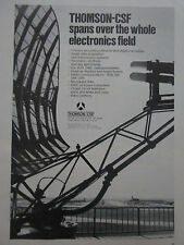9/1973 PUB THOMSON-CSF AVIATION EQUIPMENT RADAR RADIO VHF UHF ILS ORIGINAL AD