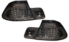 Back Rear Tail Lights Smoked Black Crystal-Look LED Pair BMW E46 Cabrio 00-03