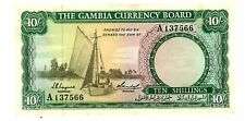Gambia ... P-1a ... 10 Shillings ... ND(1965-70) ... *AU*