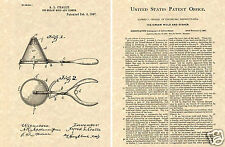 Ice Cream Scoop US Patent Art Print READY TO FRAME! Vintage 1897 Antique