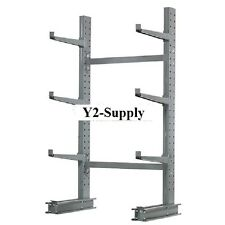 """NEW! Cantilever Rack Single Sided Starter Unit Medium Duty-48"""" W With 2"""" Lip!!"""