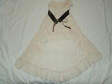 NWT Women's Annabelle Tube High Low Dress With Belt DA3008A Ivory Size L