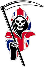 Racing Grim Reaper Skull Union Jack Car Vehicle Van Truck Sticker Extra Large