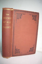 1875 Charles Darwin DESCENT OF MAN *Sex*Favored Races*Evolution* Illustrated