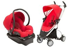 Quinny Zapp Xtra Travel System Baby Stroller + Mico AP Infant Car Seat RED NEW
