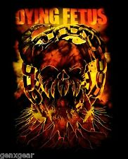 DYING FETUS cd lgo Skull Chains HELL Official SHIRT LARGE new