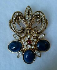 Jose Maria Barrera for Avon Florentine Brooch Pin - Necklace - Mint - Free Ship