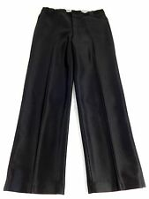 MENS BLACK POLYESTER COWBOY DRESS PANTS SIZE 35 X 31 SUPER COOL!