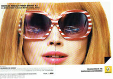PUBLICITE ADVERTISING  046  2010  Renault  la Twingo Gordini (2p)