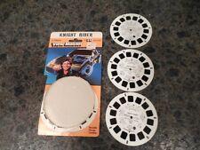 Vtg 1982 KNIGHT RIDER View Master 3 REELS Set DAVID HASSELHOFF & K.I.T.T. MIP
