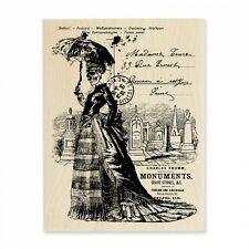 STAMPENDOUS RUBBER STAMPS SKELETON LADY HALLOWEEN STAMP 2015
