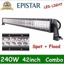 "42"" 240W Led Work Light Bar Spot Flood Driving SUV Offroad Jeep Truck Motor 12V"