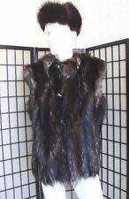 BRAND NEW MEN MAN NATURAL SILVER FOX FUR VEST JACKET SIZE ALL
