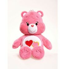 CARE BEARS LARGE LOVE-A-LOT BEAR PLUSH TOY - SOFT TOYS BRAND NEW FREE DELIVERY
