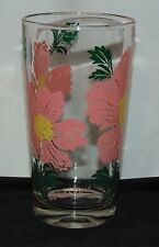 "Boscul PEANUT BUTTER *CORAL WILD ROSE*SLANTED NAME *5"" WATER GLASS*"