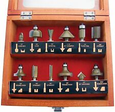 ROUTER BIT SET 12 Pc Routing 1/4'' Shank Carbon Steel in Case DT40910