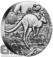 Australien - 2 Dollar 2016 - Känguru - 2 Oz Silber in High Relief - Antik Finish