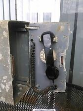 Vintage Railroad station telephone & box Western Electric dial rotary phone