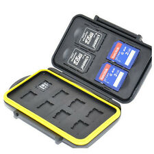 JJC MC-SDMSD12 Waterproof Memory Card Case for 4 SD + 8 Mirco SD Secure w/ lock