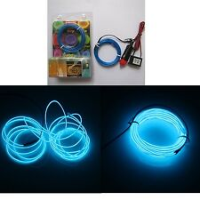 5M bleu diamètre 2.3mm el wire light tron neon glow corde avec 12V transformateur...