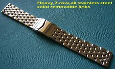 7-row 20 mm Navitimer Style Stainless Steel Watch Band Bracelet FitBreitling