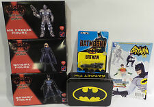 BATMAN : BUNDLE : 3 X MODEL KITS, COMIC, TIN & BATMOBILE (TK) & (SC)