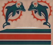 MIAMI DOLPHINS THROWBACK FULL SIZE FOOTBALL HELMET DECALS W/STRIPE