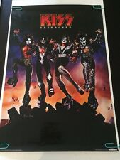 K.I.S.S. Destroyer pin-up Cartoon Poster Lithograph Aquarius Gene Simmons 2011