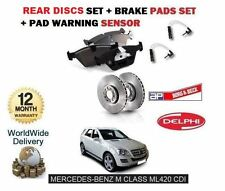 FOR MERCEDES ML420 CDi 2006-  REAR BRAKE DISCS SET + DISC PADS KIT+ WIRE SENSOR