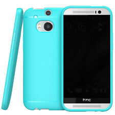 Blue Ultra Slim Fit SoftGel Flexible TPU Case Cover for 2014 NEW HTC One 2 M8